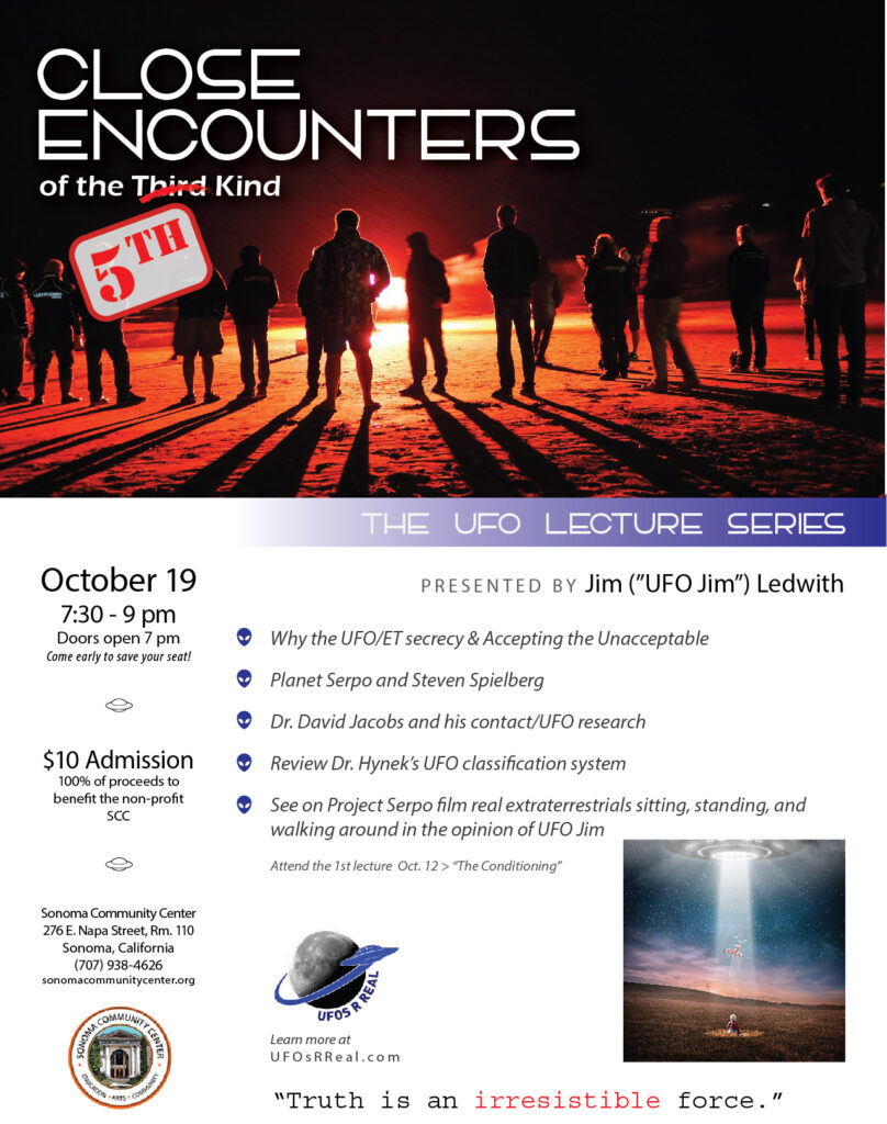 Close Encounters of the 5th Kind Oct 19 Flyer